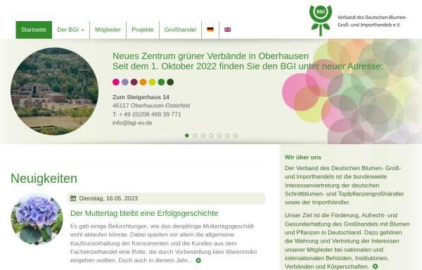 Vorschau von www.bgi-ev.de, Verband des Deutschen Blumen- Groß- und Importhandels e.V. (BGI)