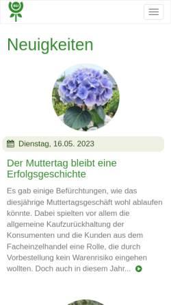 Vorschau der mobilen Webseite www.bgi-ev.de, Verband des Deutschen Blumen- Groß- und Importhandels e.V. (BGI)