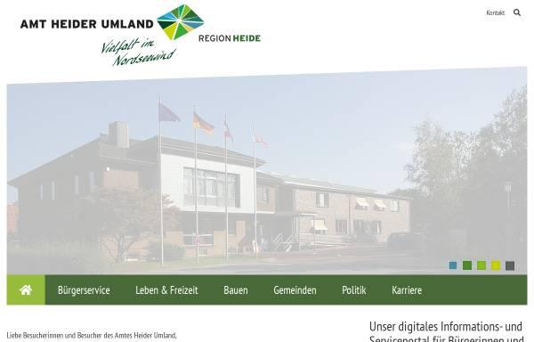 Vorschau von www.amt-heider-umland.de, Amt KLG Heider Umland