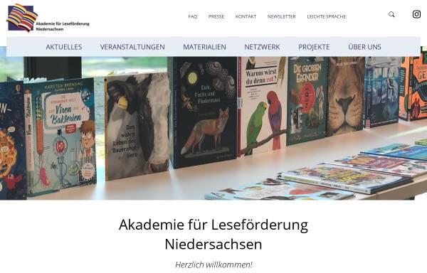Vorschau von www.alf-hannover.de, Akademie für Leseförderung der Stiftung Lesen an der Gottfried Wilhelm Leibniz Bibliothek