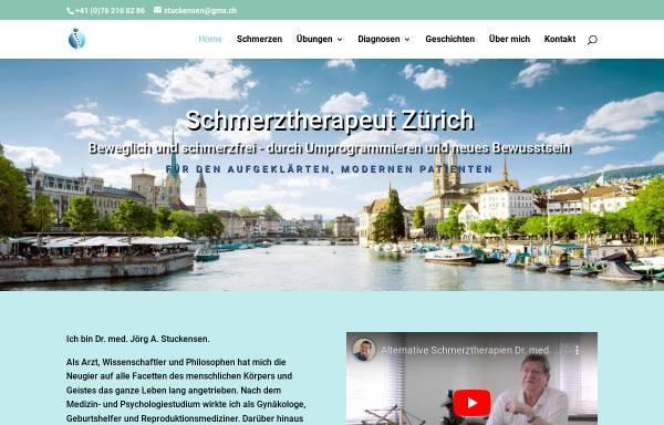 Vorschau von www.schmerztherapeut-zuerich.ch, Dr. med. Jörg Alexander Stuckensen