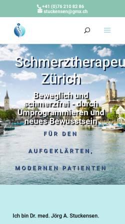 Vorschau der mobilen Webseite www.schmerztherapeut-zuerich.ch, Dr. med. Jörg Alexander Stuckensen