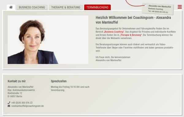 Vorschau von www.coachingcom.de, Alexandra von Manteuffel