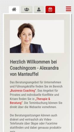 Vorschau der mobilen Webseite www.coachingcom.de, Alexandra von Manteuffel