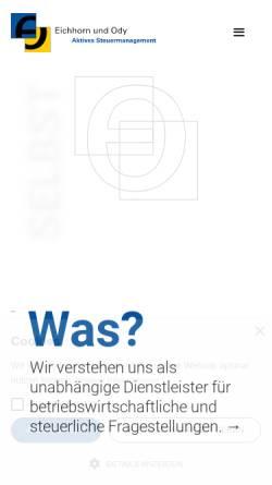 Vorschau der mobilen Webseite www.eichhornody.de, Eichhorn und Ody Steuerberatungsgesellschaft mbH