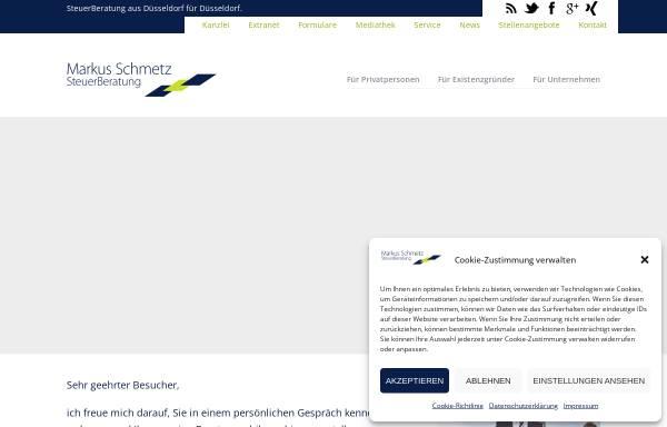 Vorschau von www.stb-schmetz.de, Markus Schmetz Steuerberatung