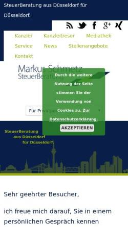 Vorschau der mobilen Webseite www.stb-schmetz.de, Markus Schmetz Steuerberatung