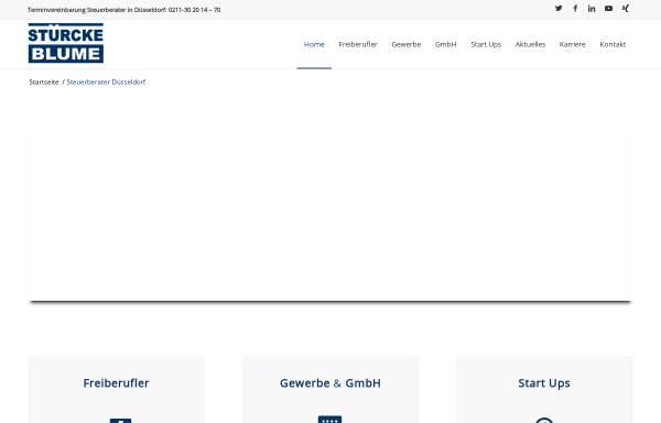 Vorschau von www.steuerberater-duesseldorf-ok.de, Stürcke & Blume Wirtschaftsprüfer Steuerberater Rechtsanwalt