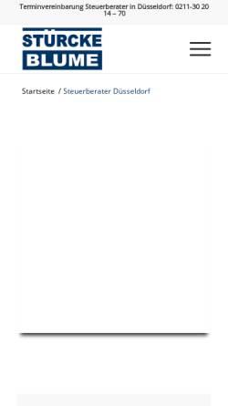 Vorschau der mobilen Webseite www.steuerberater-duesseldorf-ok.de, Stürcke & Blume Wirtschaftsprüfer Steuerberater Rechtsanwalt