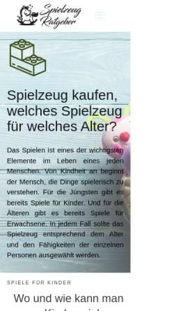 Vorschau der mobilen Webseite www.spielzeug-ratgeber.info, Spielzeug-Ratgeber