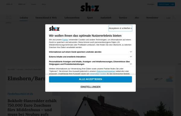 Vorschau von www.shz.de, Elmshorner Nachrichten