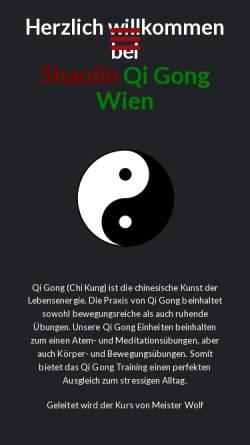 Vorschau der mobilen Webseite www.shaolin-qigong-wien.at, Shaolin Qi Gong Wien