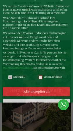 Vorschau der mobilen Webseite www.burgellern.de, Hotel Restaurant Schloss Burgellern