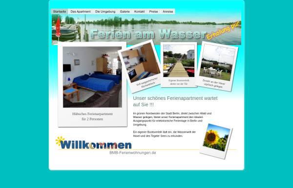Vorschau von www.bmb-ferienwohnungen.de, BMB-Ferienwohnungen in Tegelort