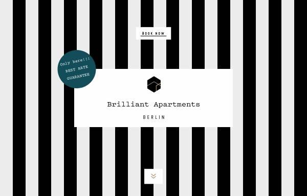 Vorschau von www.brilliant-apartments.de, Brilliant Apartments GmbH