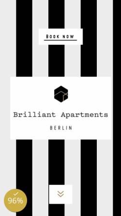 Vorschau der mobilen Webseite www.brilliant-apartments.de, Brilliant Apartments GmbH