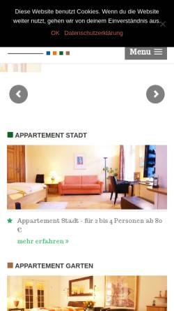 Vorschau der mobilen Webseite www.eigenart-appartement.de, EigenArt Appartement