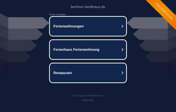 Vorschau von www.berliner-landhaus.de, Ferienwohnung Berliner Landhaus