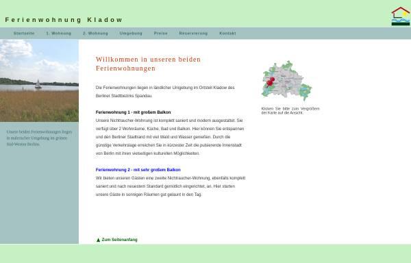 Vorschau von www.fewo-kladow.de, Ferienwohnung Kladow