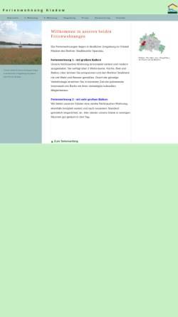 Vorschau der mobilen Webseite www.fewo-kladow.de, Ferienwohnung Kladow