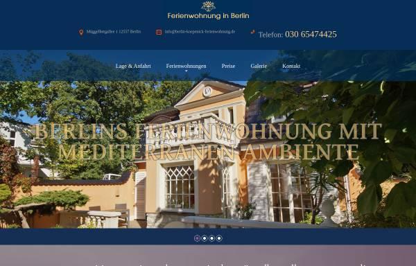 Vorschau von www.berlin-koepenick-ferienwohnung.de, Ferienwohnungen Löber