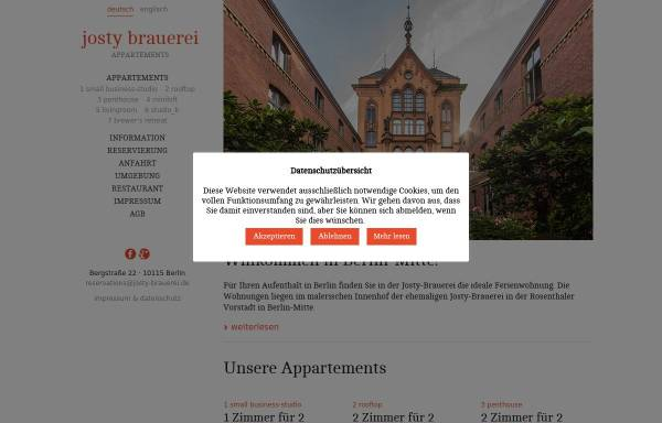 Vorschau von www.josty-brauerei.de, Josty-Brauerei