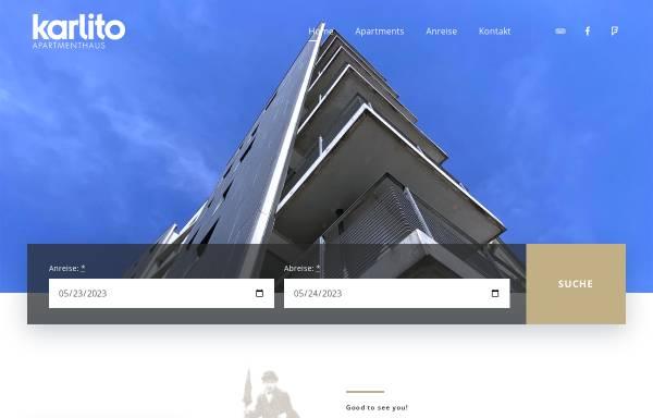Vorschau von www.karlito-apartments.de, Karlito Apartmenthaus