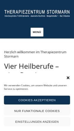Vorschau der mobilen Webseite www.therapiezentrum-stormarn.de, Therapiezentrum Stormarn