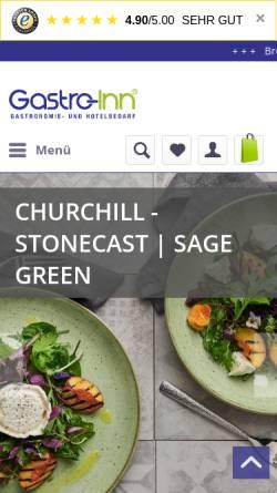 Vorschau der mobilen Webseite www.gastro-inn.de, Gastro-Inn GmbH