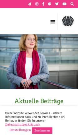 Vorschau der mobilen Webseite www.tabea-roessner.de, Rößner, Tabea (MdB)