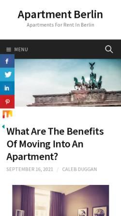 Vorschau der mobilen Webseite www.apartment-berlin.org, Accommodation Appartement Berlin City - Jens Hoffmann