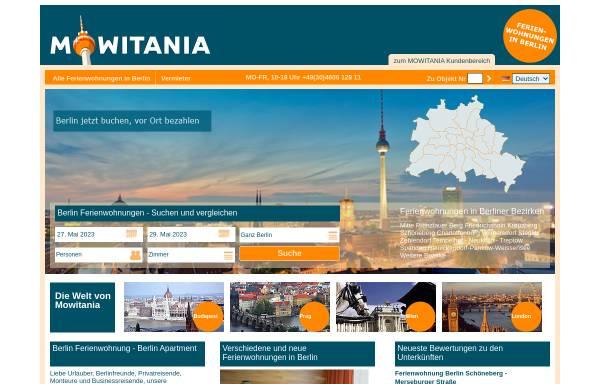 Vorschau von www.ferienwohnung-zimmer-berlin.de, Vermíttlung von Ferienwohnungen und Zimmern