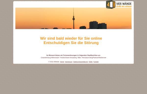 Vorschau von www.ferienwohnung-in-berlin.de, Vier Wände