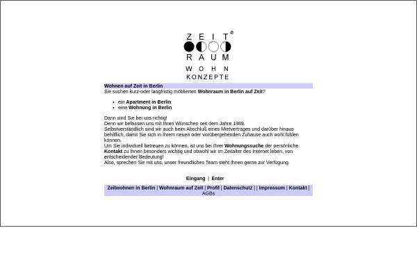 Vorschau von www.zeit-raum.de, Zeit-Raum Wohnkonzepte