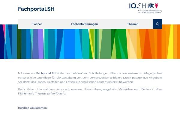 Vorschau von faecher.lernnetz.de, Fächerportal Dänisch des Institut für Qualitätssicherung an Schulen Schleswig-Holstein