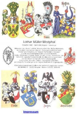 Vorschau der mobilen Webseite www.heraldissimus.de, Lothar Müller-Westphal Heraldiker