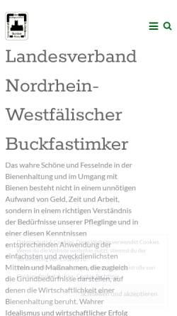 Vorschau der mobilen Webseite www.buckfastnrw.de, Landesverband der nordrhein-westfälischen Buckfastimker e.V.