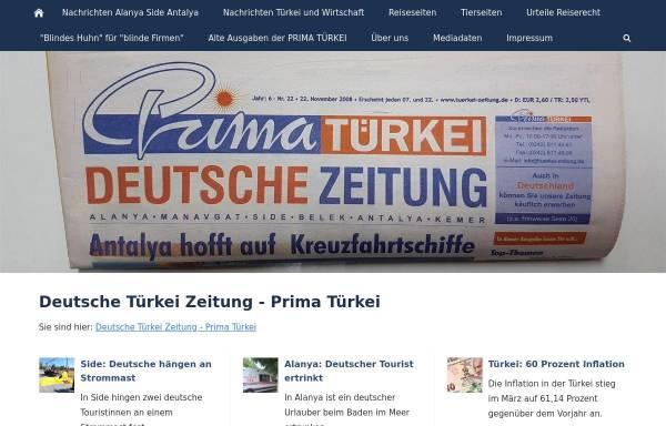 Vorschau von atr-zeitung.com, Aktuelle Türkei Rundschau