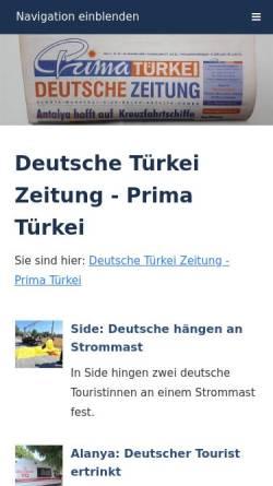 Vorschau der mobilen Webseite atr-zeitung.com, Aktuelle Türkei Rundschau