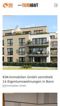 Vorschau der mobilen Webseite trendkraft.de, TRENDKRAFT