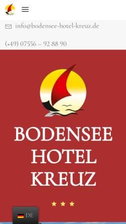 Vorschau der mobilen Webseite www.bodensee-hotel-kreuz.de, Bodensee-Hotel Kreuz