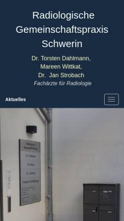 Vorschau der mobilen Webseite www.roentgenpraxis-schwerin.de, Radiologische Gemeinschaftspraxis Schwerin