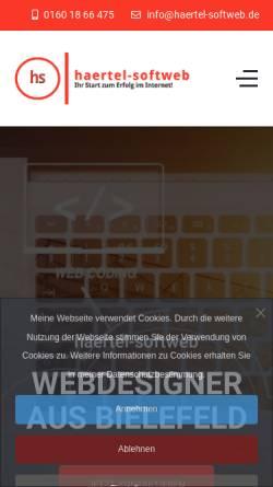 Vorschau der mobilen Webseite www.haertel-softweb.de, haertel-softweb