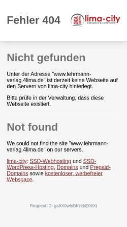 Vorschau der mobilen Webseite www.lehrmann-verlag.4lima.de, Lehrmann-Verlag