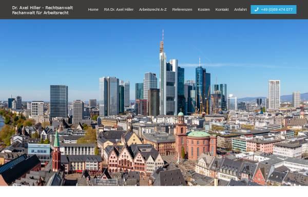 Vorschau von www.ra-hiller.de, Hiller, Dr. Axel, Fachanwalt für Arbeitsrecht
