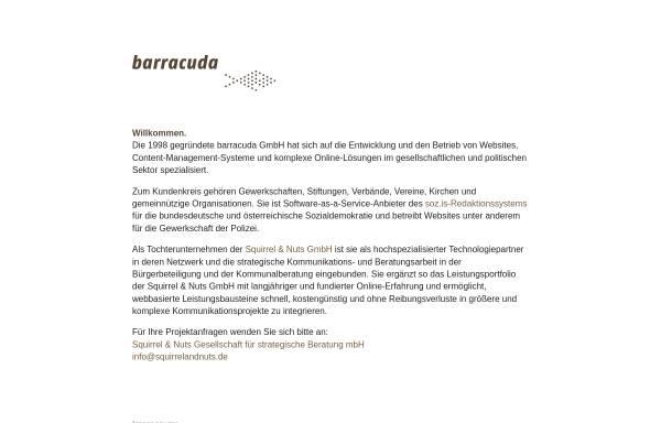 Vorschau von www.barracuda.de, Barracuda Digitale Agentur GmbH