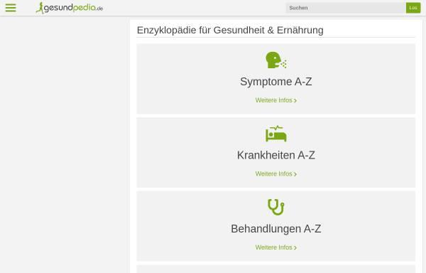 Vorschau von gesundpedia.de, Gesundpedia