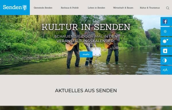 Vorschau von www.gemeinde-senden.de, Gemeinde Senden
