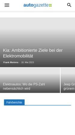 Vorschau der mobilen Webseite www.autogazette.de, Autogazette