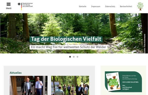 Vorschau von www.waldkulturerbe.de, Waldkulturerbe.de